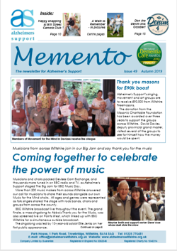 Newsletter Autumn 2019 front cover