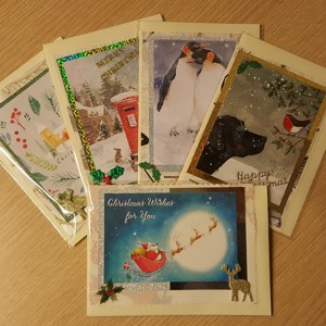 Handmade Christmas cards - pack of six