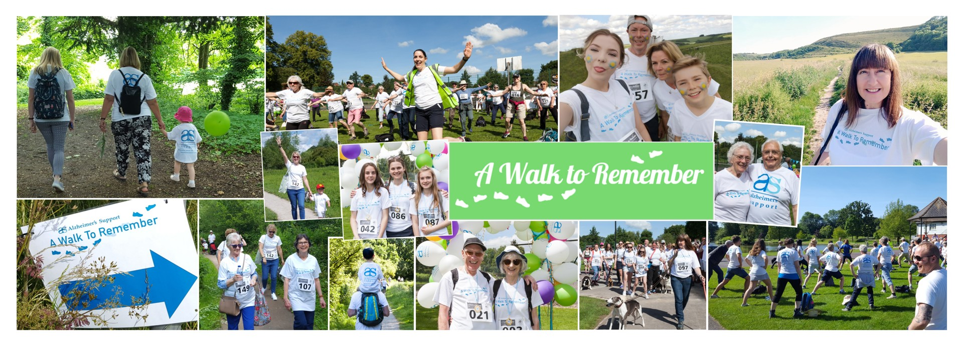 Photo collage from 2019 walk